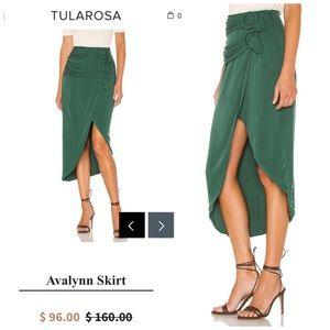 TULAROSA | Avalynn Midi Skirt in Emerald Size XS